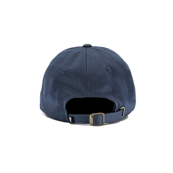 Caution Script Dad Hat - Navy
