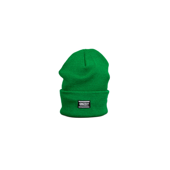 Authentic Label Beanie Green/White