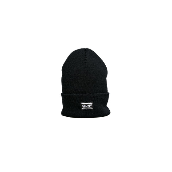 Authentic Label Beanie Black/White