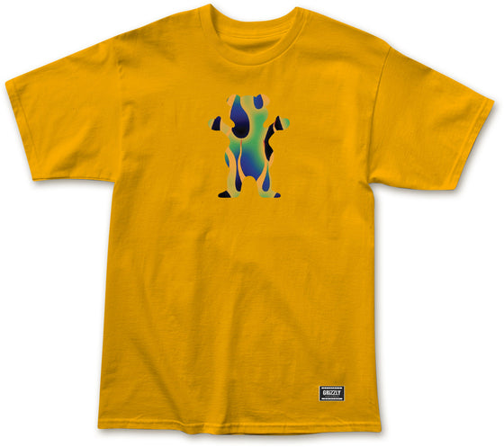 Green Fire OG Bear Tee Gold