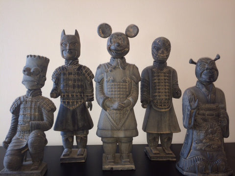* A Xi'an-American Warriors, Complete Set including a General Mickey