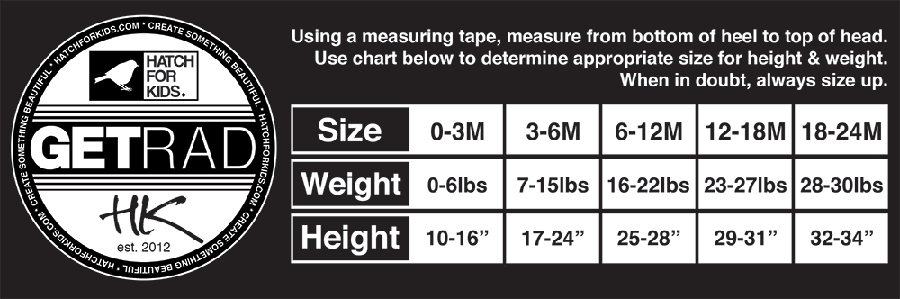 Hatch For Kids Baby Size Chart