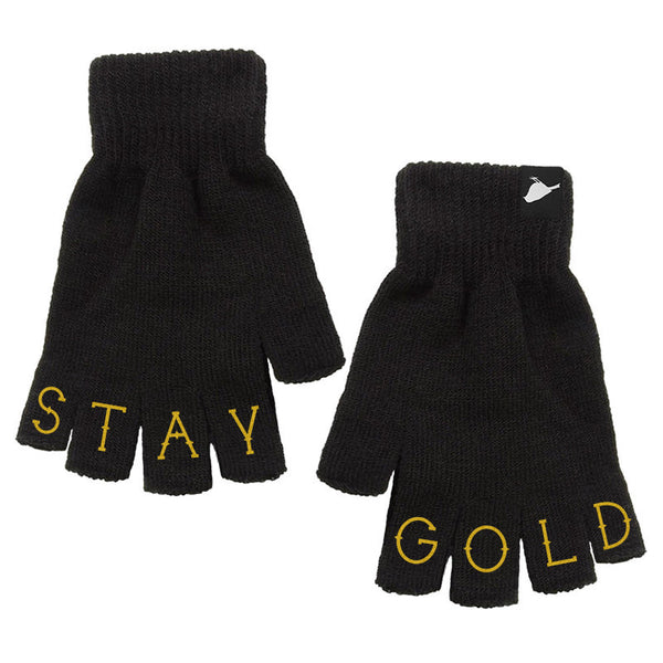 Accessories - Stay Gold Fingerless Gloves