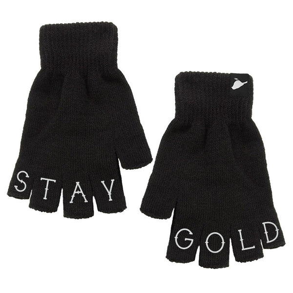 Accessories - Stay Gold Fingerless Gloves White