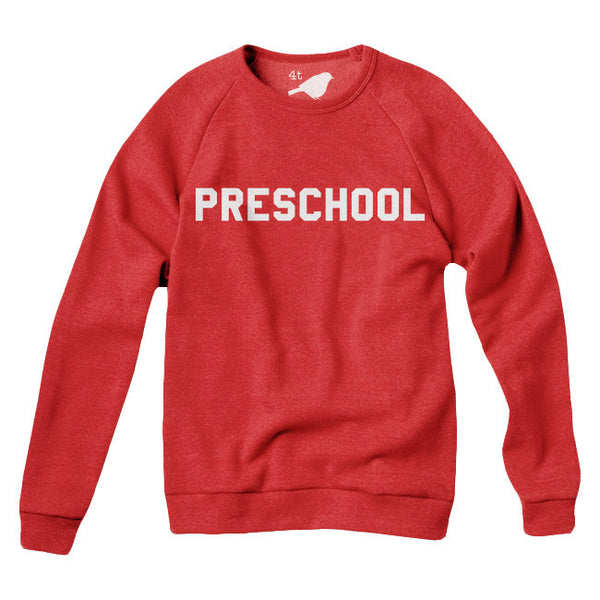 Long Sleeve - Preschool Sweatshirt Red