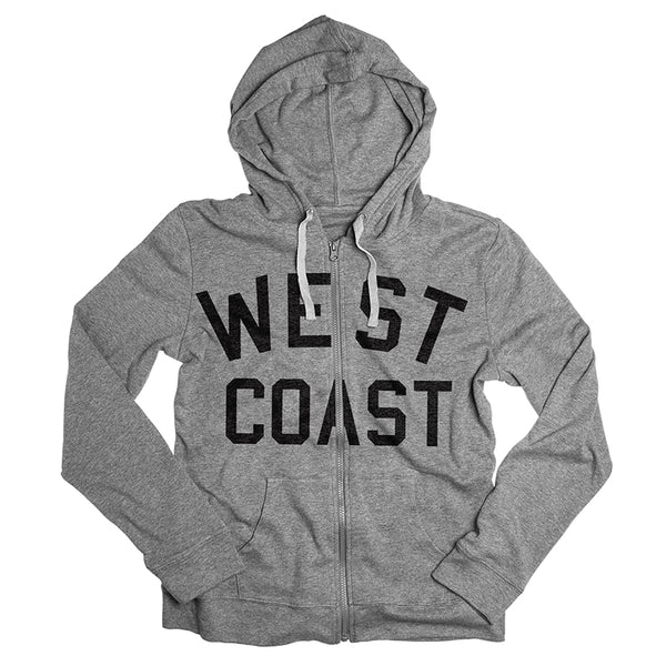 West Coast Zip-Up Hoodie Sweatshirt