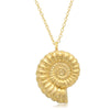 Diamond Ammonite Necklace