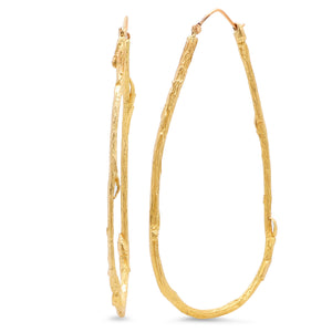 Teardrop Willow Hoops