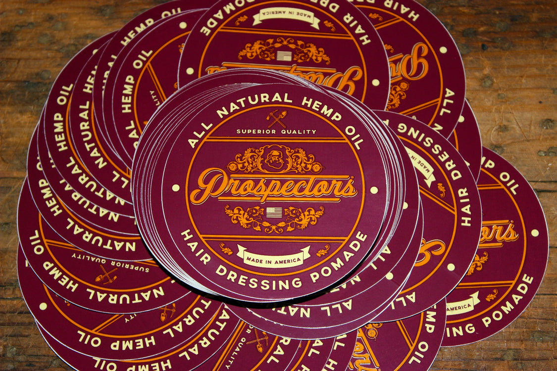 Product Stickers, Coal Mine Matte Pomade