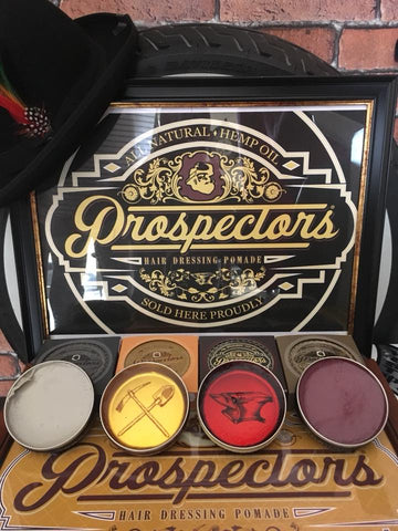 Display of pomade textures