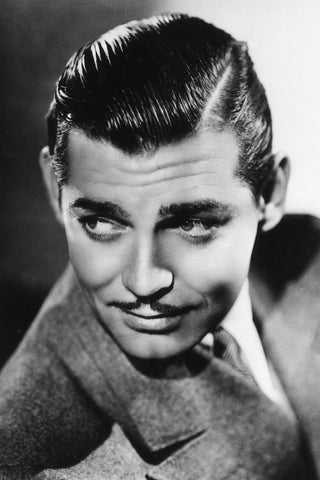 Clark Gable with his signature slick hair