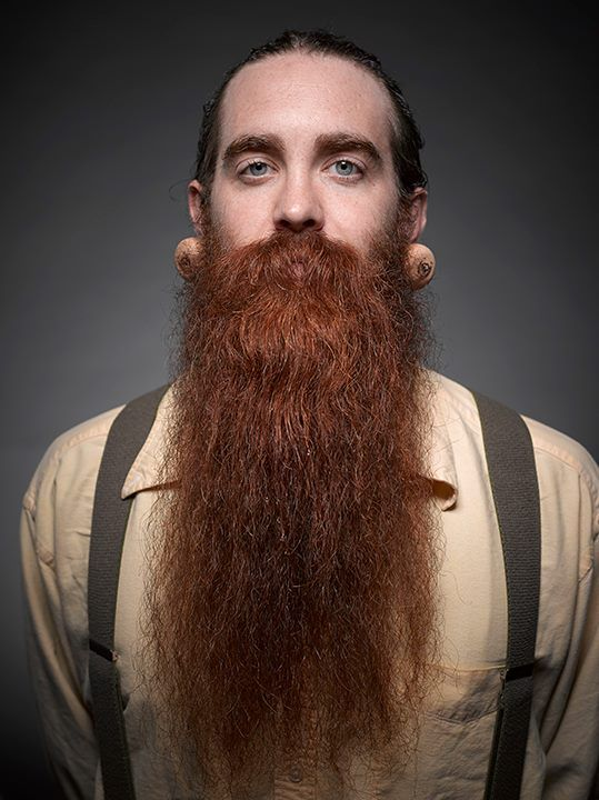 very long red-beard-ginger-beard with beard oil