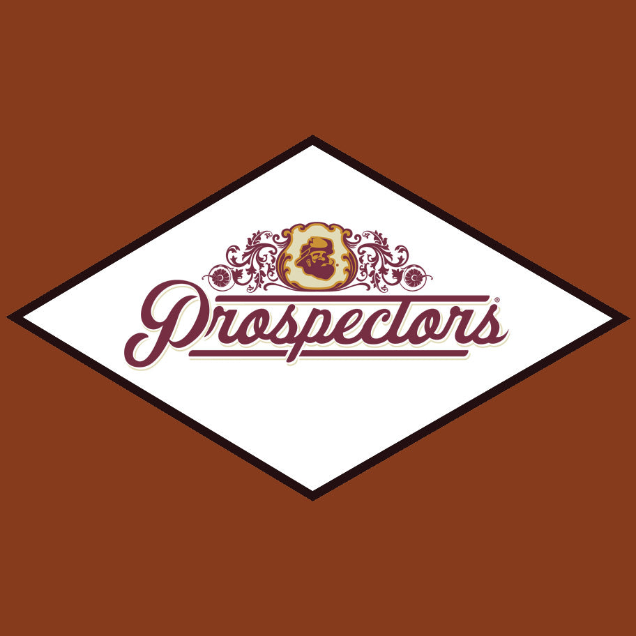 prospectors logo on orange background