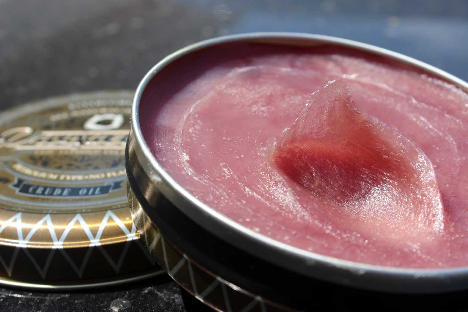 prospectors oil based pomade is pink purple