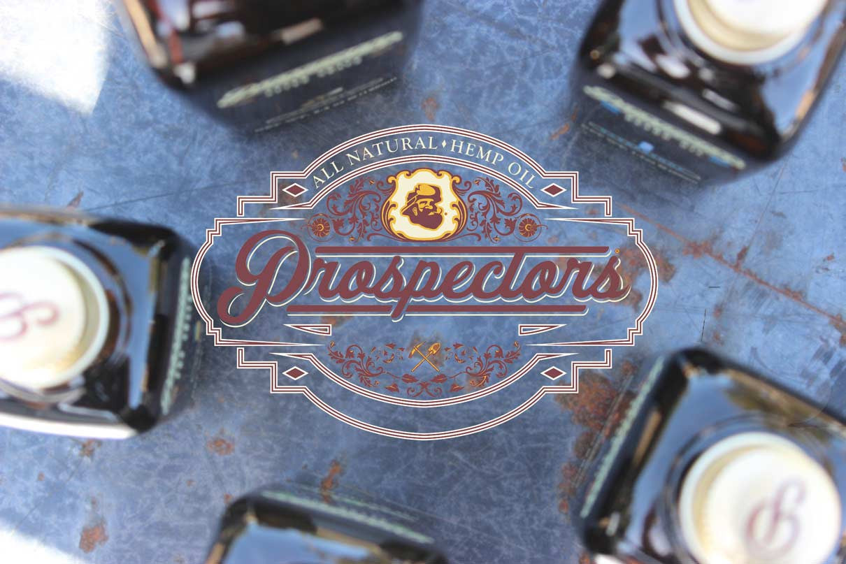 Prospectors pomade logo with beard oils
