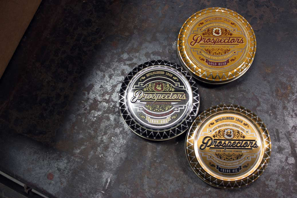 prospectors pomade display