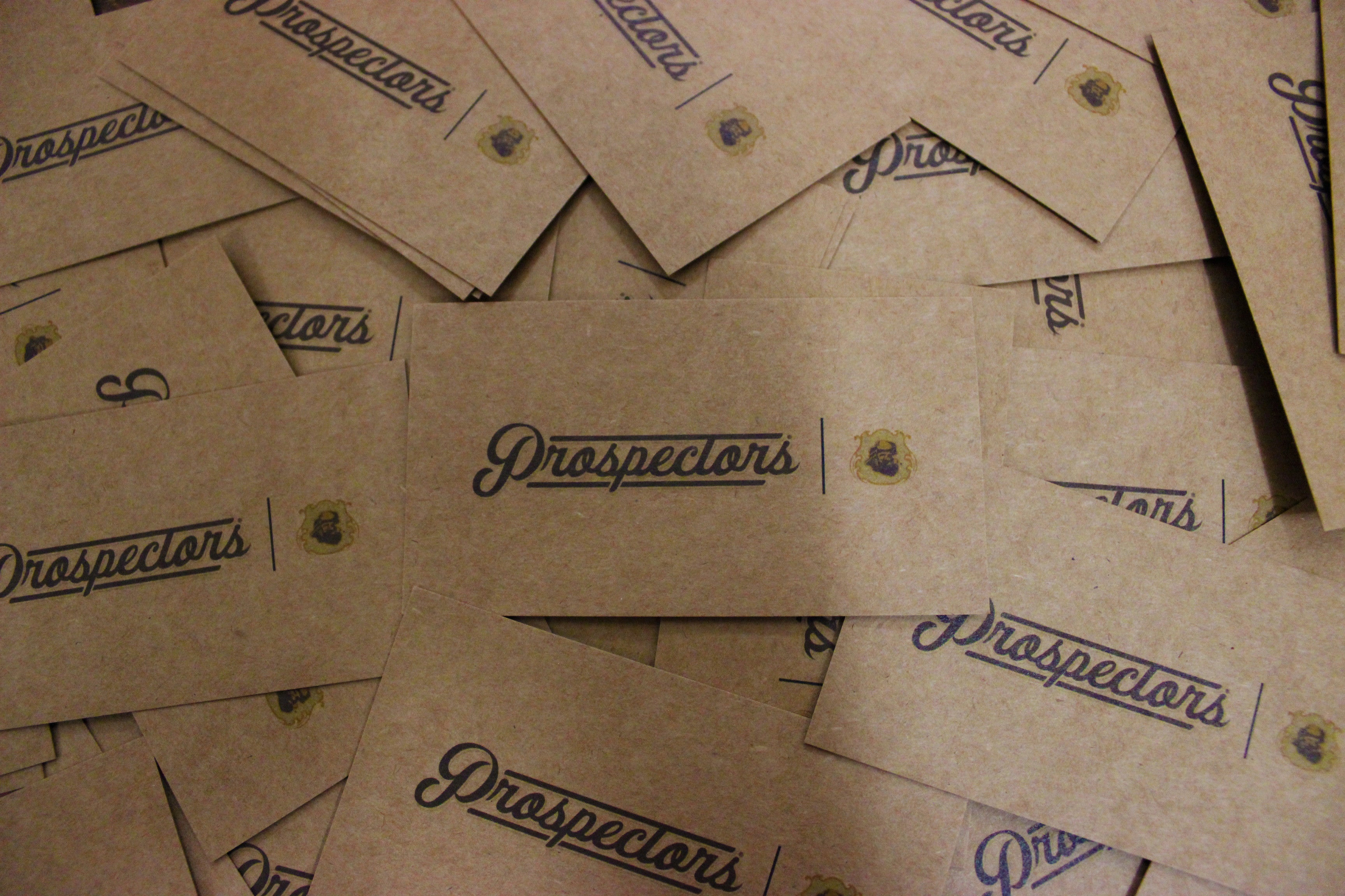 prospectors pomade business cards