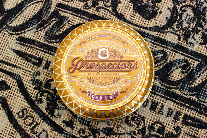a can of water based medium hold pomade from prospectors