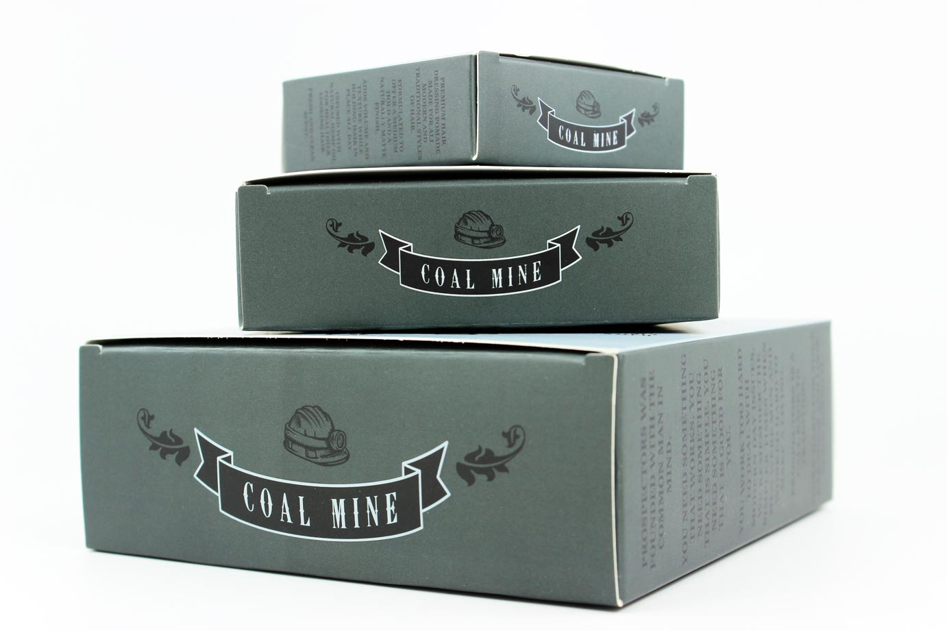 Stack of Prospectors Coal Mine Pomade the best award winning matte hair product