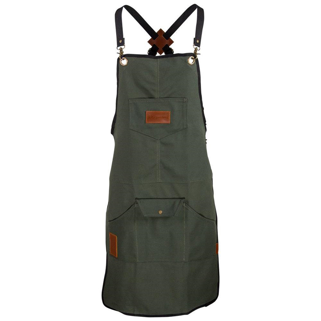 Prospectors Pomade Green Work Apron for Mens Grooming