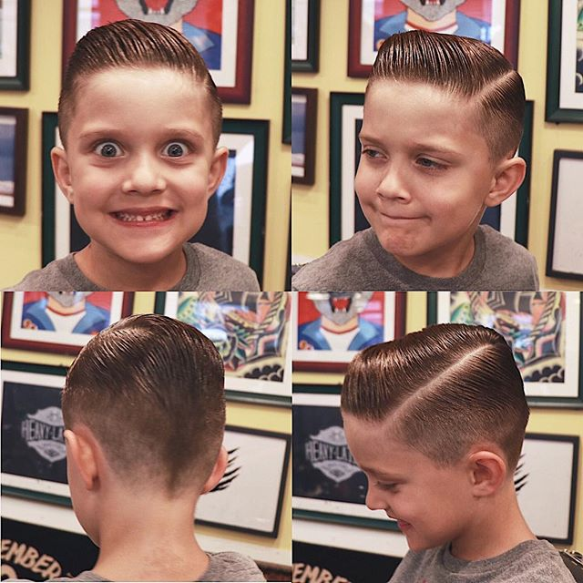 barber_limb-3 post on instagram with a great sidepart haircut on a young boy