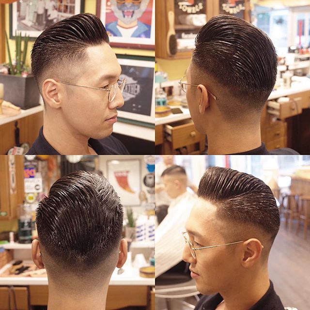 barber_limb instagram post of haircut on all sides styled with prospectors pomade
