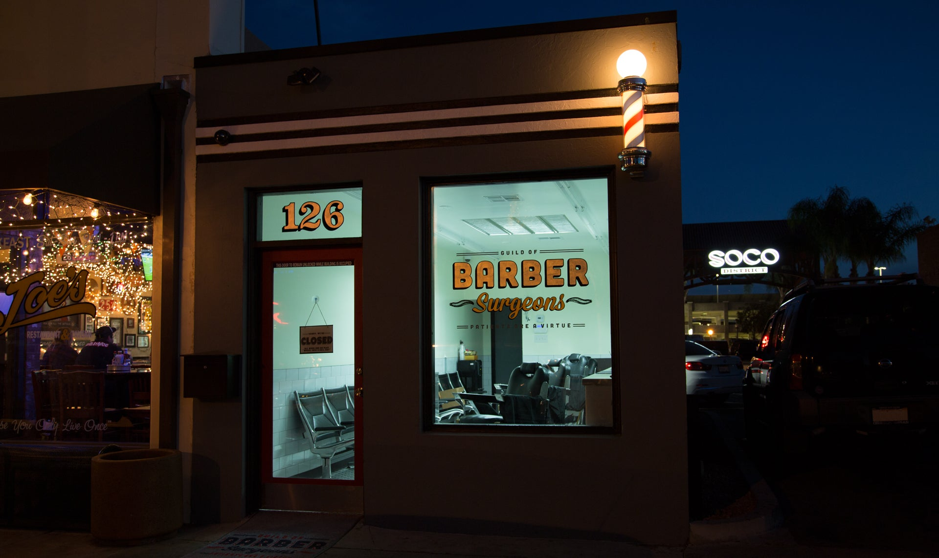Barber Surgeons located in Fullerton's SOCO District