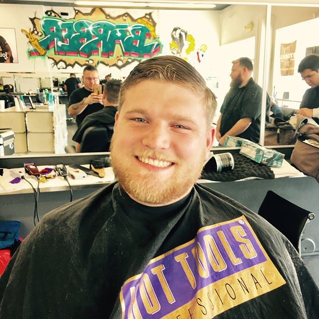 candy_sweet_cuts haircut styled with Prospectors Pomade
