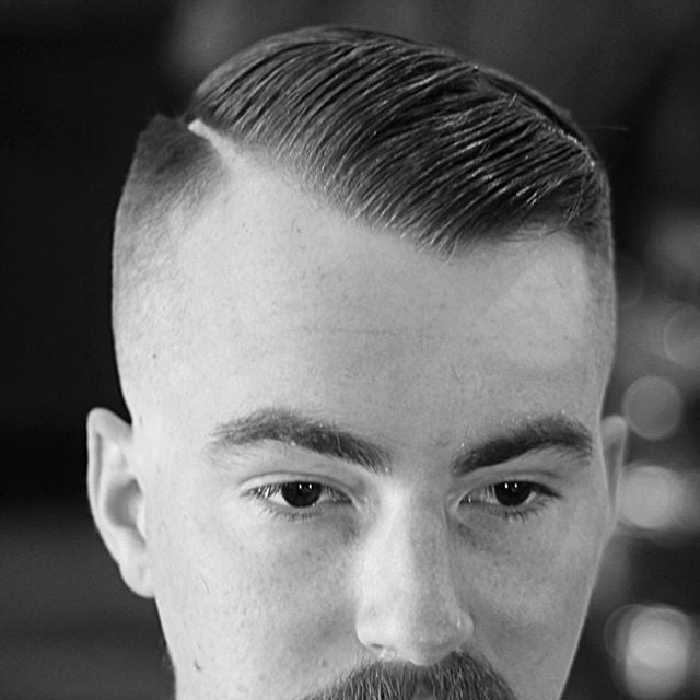 deadthebarber instagram post with a great high skin fade haircut styled with prospectors