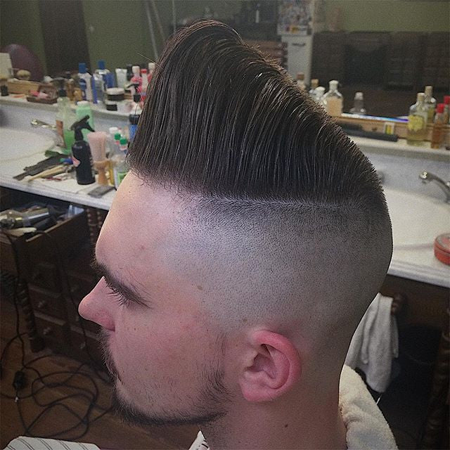 huge pompadour haircut with prospectors pomade styled dimonlolpro