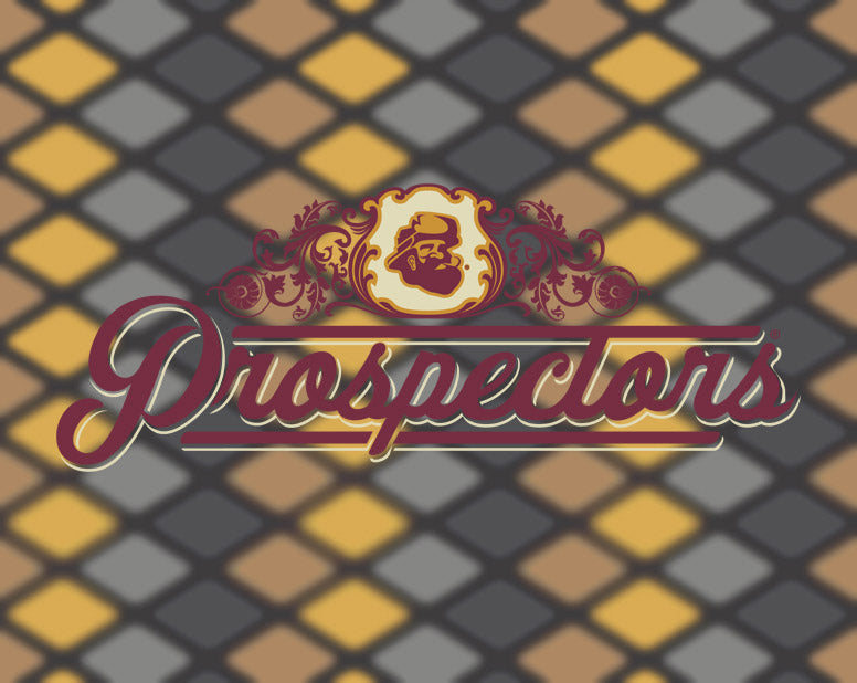 Prospectors pomade logo on a nice background