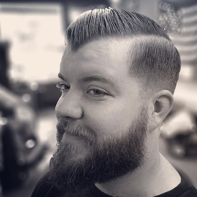 just_some_kreep instagram picture of men's haircut with prospectors pomade