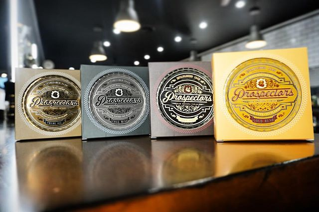 saltlakebarberco and the whole prospectors pomade line-up on the counter