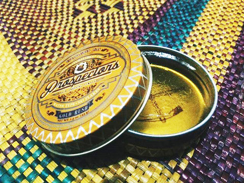 Open Jar of gold rush pomade that makes your hair totally sexy