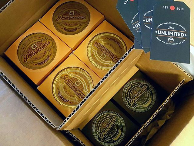 the_unlimited_macau assortment of pomades from prospectors