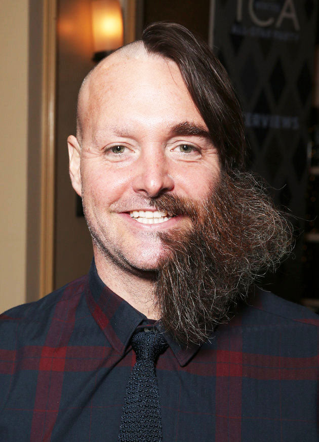 will-forte rocking half a beard and half of a haircut