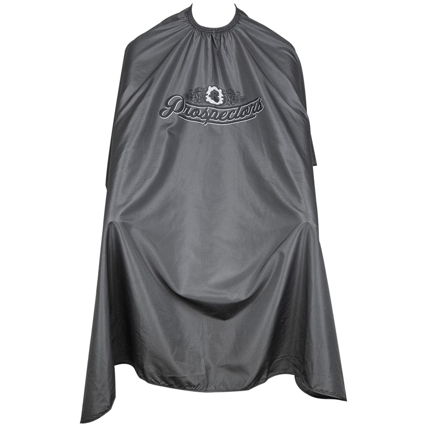 Barber Cape- Charcoal Open