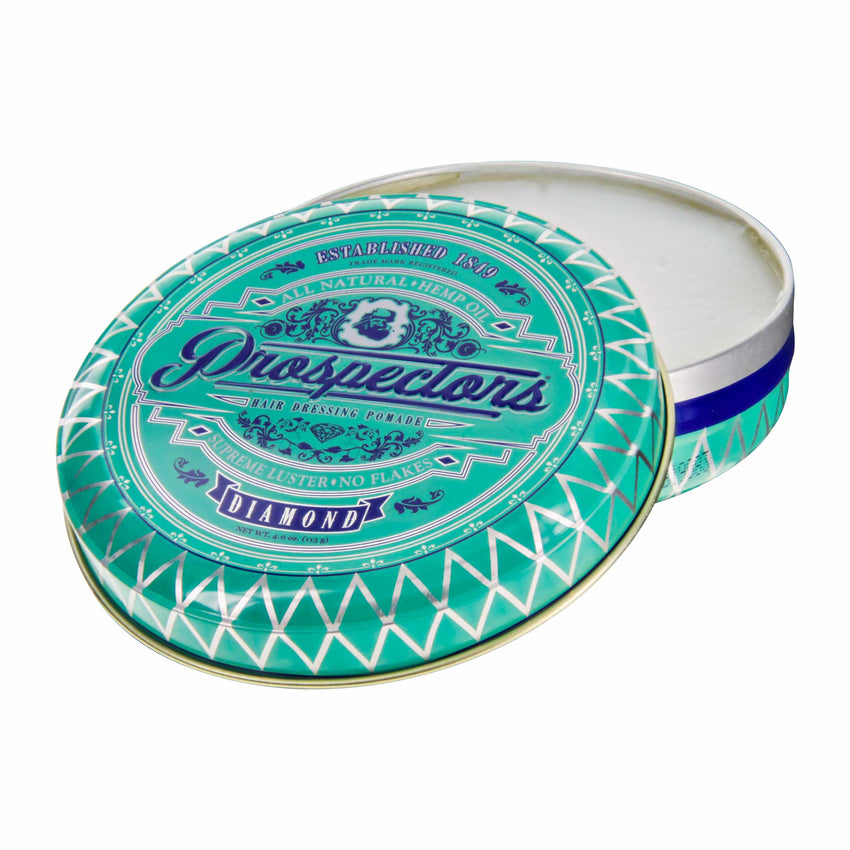 Prospectors Diamond Pomade 4 ounce tin jar - Open view