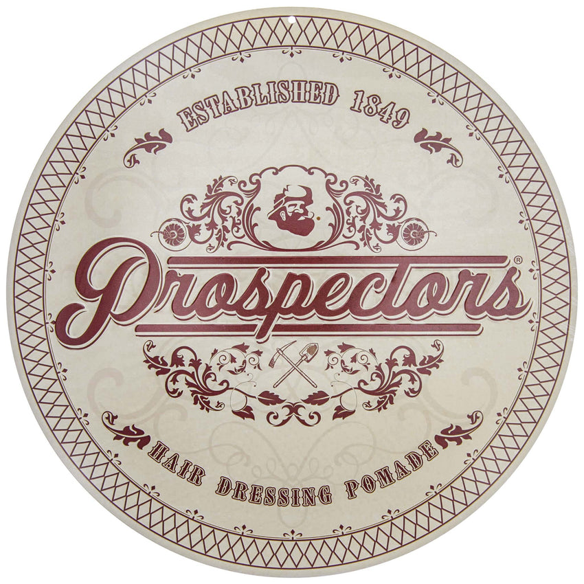 Prospectors Pomade Tin Sign