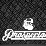 Prospectors Barber Mat Black & White- Close Up