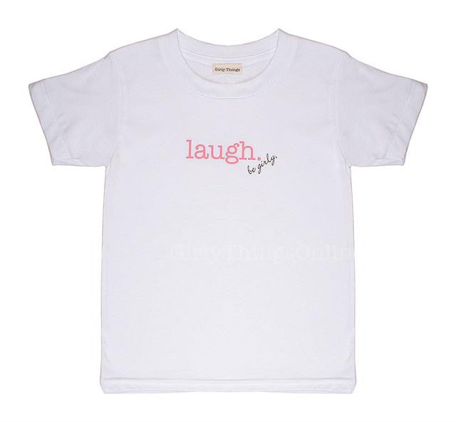Laugh Inspired Tee - White