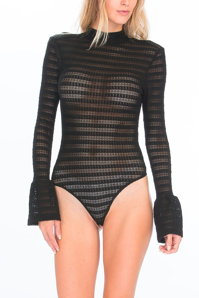 Edgy Sheer Bodysuit