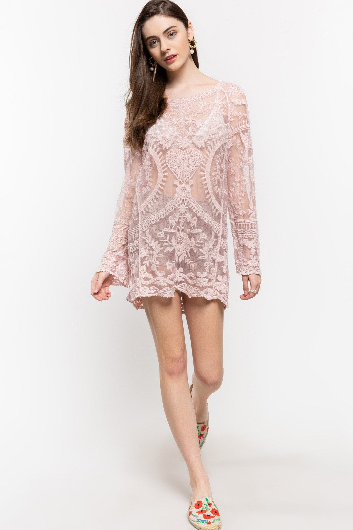 Bohemian Lace Tunic Top