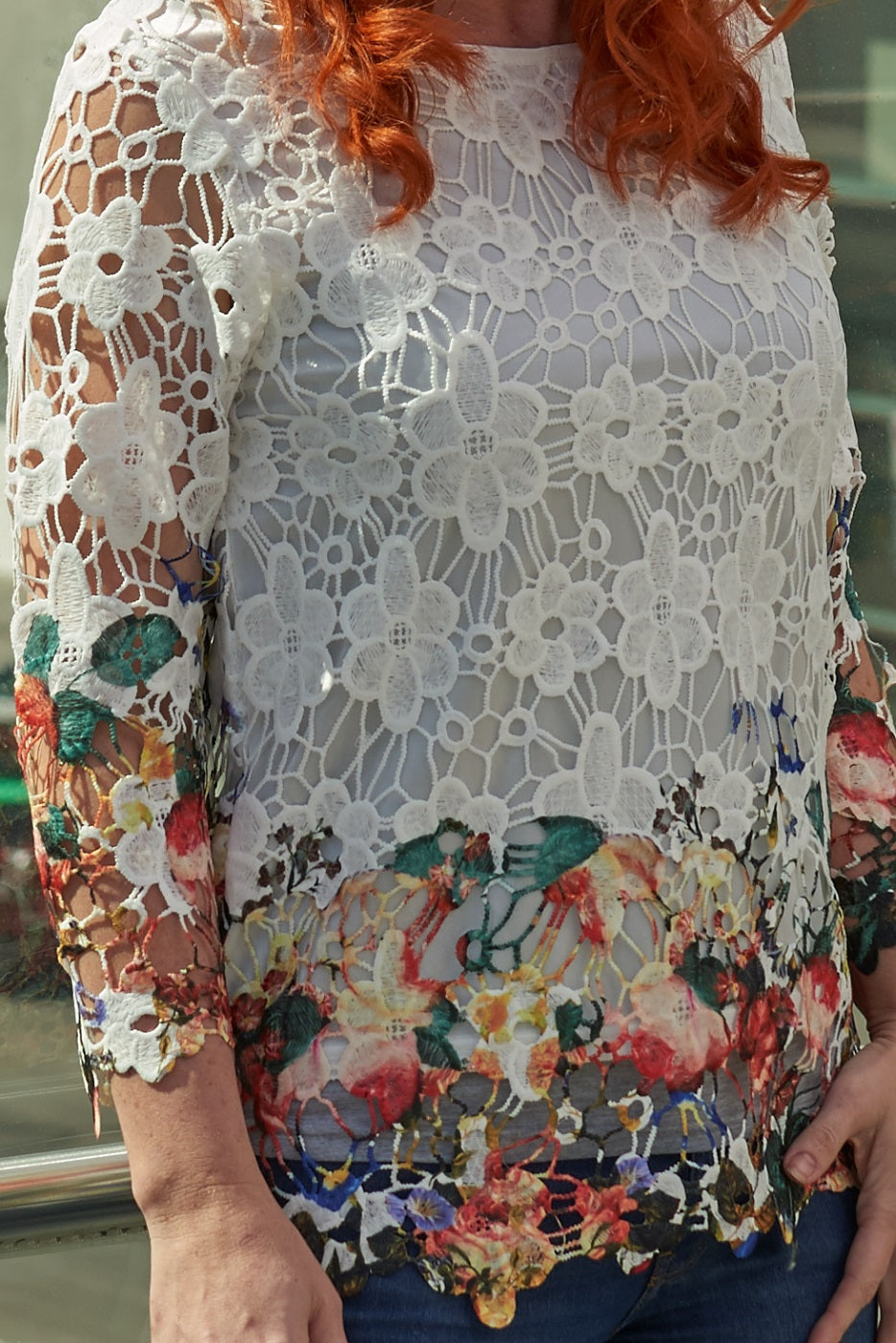Contemporary Dip Dye Floral Top