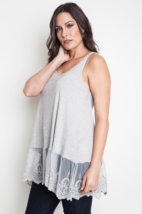 JULIA Plus Size Tank Top - Vegastyleboutique.com - 1