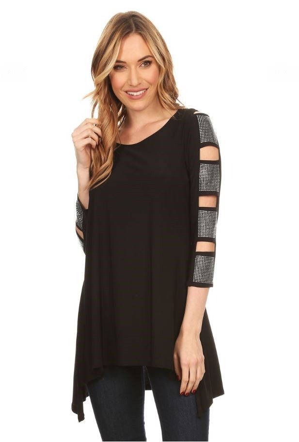 MONIQUE Curvy Tunic Top - Vegastyleboutique.com  - 1