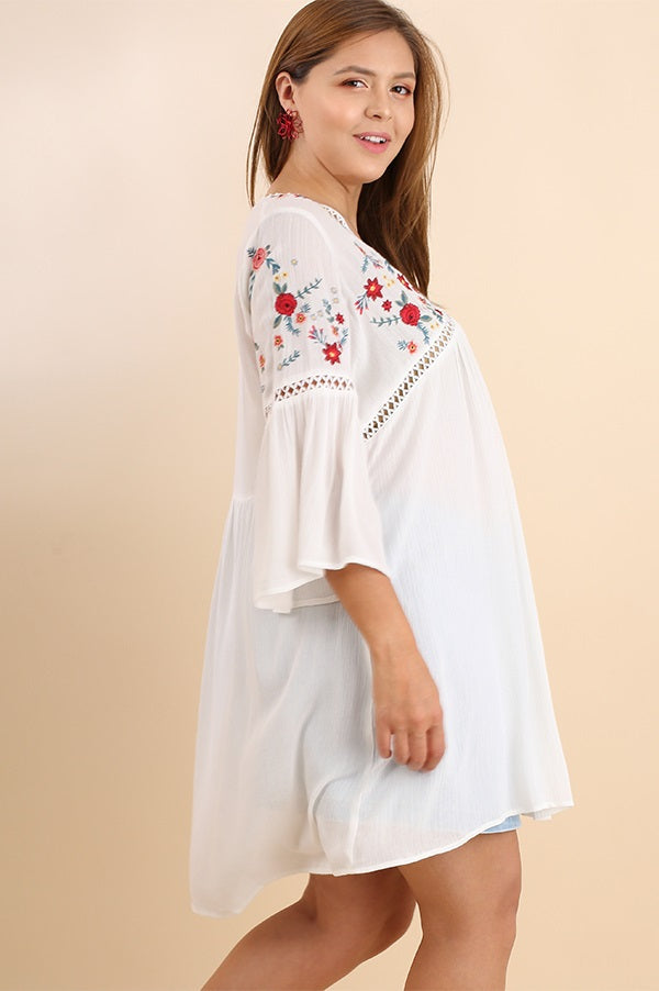 Plus Size Casual Embroidered Tunic - Vegastyleboutique.com - 3