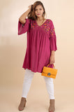 Plus Size Casual Embroidered Tunic - Vegastyleboutique.com - 5
