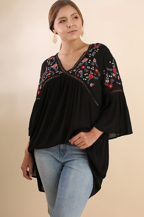 Plus Size Casual Embroidered Tunic - Vegastyleboutique.com - 7