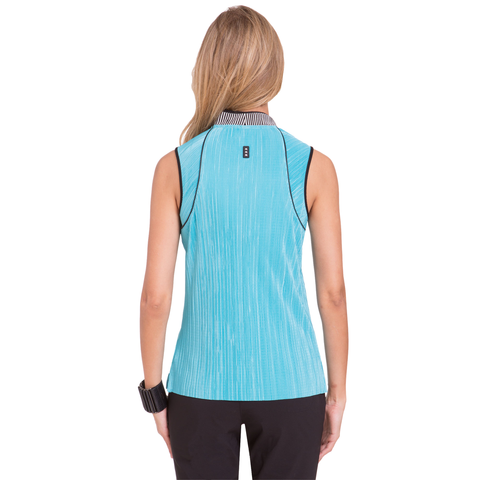 Jamie Sadock Fiji Crunch Texture Sleeveless Polo